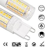 AGOTD G9 LED Glühlampen, Warmweiß LED Lampen 4W, 35 40W Halogenlicht Äquivalent, Energie Sparen, Helligkeit,TUV GS CE Bewiesen,2700K , 200-240V AC, Bipin Socket,16mm x52mm, 360 Grad Winkel, Nicht Dimmbar, 400Lm, CRI> 82, LED Glühlampe,5er pack