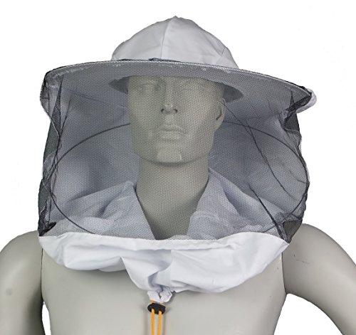 APIFORMES Imkerschleier Smoker mit einfachem Stoff am Hut, Stichschut, Bienenstich, Imkerei, Imkereibedarf