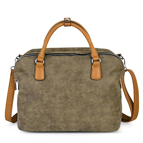 Vbiger Damen Handtasche Damen Henkeltasche Damen Aktentaschen Umhängetasche Schultertasche Cross-body Tasche -