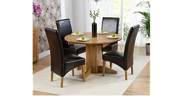 Fabulous Corona Oak Dining Furniture Round Extending Dining Table 4 Gmtry Best Dining Table And Chair Ideas Images Gmtryco