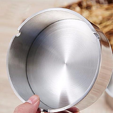 HQLCX Cendrier Acier Inoxydable Épais 304 Cendrier.,3.5Cm 10 *