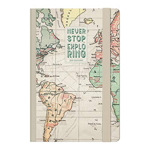 Medium  photo weekly diary with notebook 18 mesi 2019/2020 - map