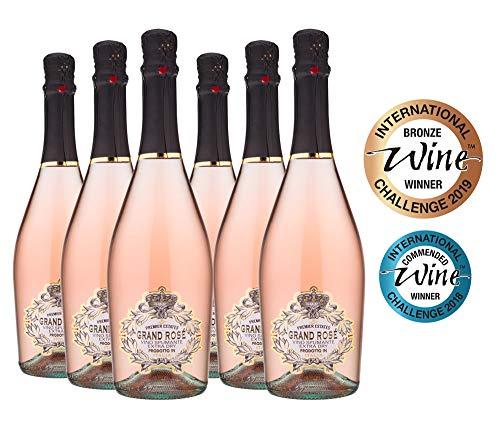 Premier Estates | Best Sparkling Rose Wine | Grand Rosé from Italy | Case of 6 x 75cl Bottles (6)