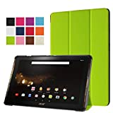 Hülle für Acer Iconia One Tab 10 B3-A30 / A3-A40 10.1 Zoll Schutzhülle Etui Tablet Tasche Smart Cover (Grün) NEU