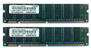 SAMSUNG 1GB (2x 512MB) PC133 SDRAM 133MHz DIMM - Compatibilité Limitée