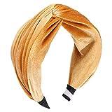 Dicomi Donna Capelli Hoop Sweet Fascia per Wide Solid Color Pieghe Accessori per Capelli Moda Carino Bandane Headband Fasce Hair Bands con Nastro Elastico Stile