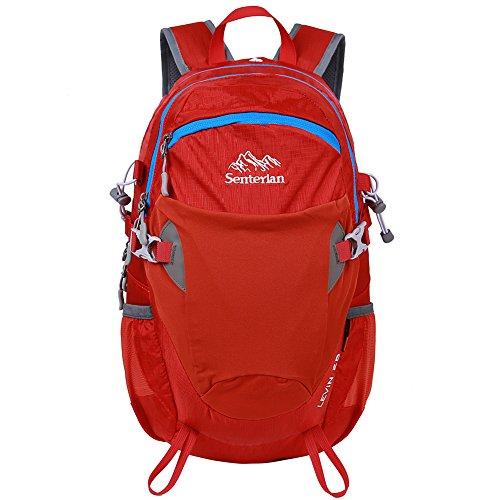 EGOGO 25L Wasserdicht Wanderrucksack Rucksack Kurztrip Rucksack mit Regen Abdeckung Radfahren S2986 Rot