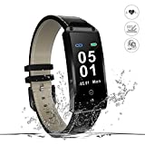 Fitness ArmbandUhr, Movaty Y-2 Smart Bracelet mit Pulsmesser,Wasserdicht IP67 Fitness Tracker Aktivitätstracker mit Schlafmonitor, Schrittzähler, Kalorienzähler, SMS Anrufe Reminder für iPhone Samsung iOS und Android