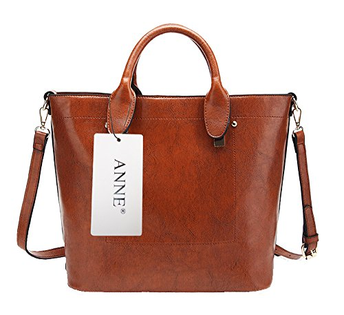 Anne, Borsa tote donna nero Red Wine Brown