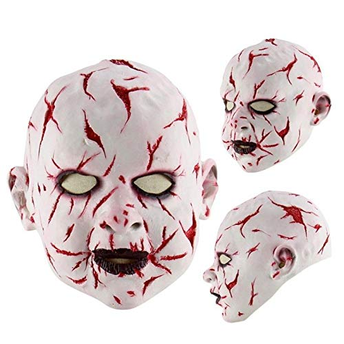 Masken beängstigend Jason Voorhees Horror-Kostüm Blood Creepy Spooky Latex (BLODDY Baby) ()