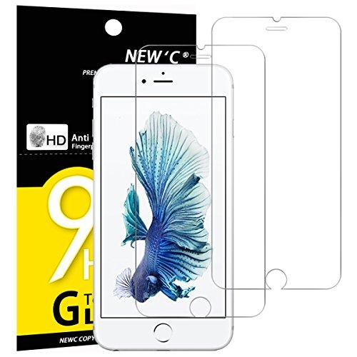 NEW'C PanzerglasFolie Schutzfolie für iPhone 6s Plus, für iPhone 6 Plus, [2 Stück] Frei von Kratzern Fingabdrücken & Öl, 9H Härte, HD Bildschirmschutzfolie, kompatibel6s Plus,6 Plus