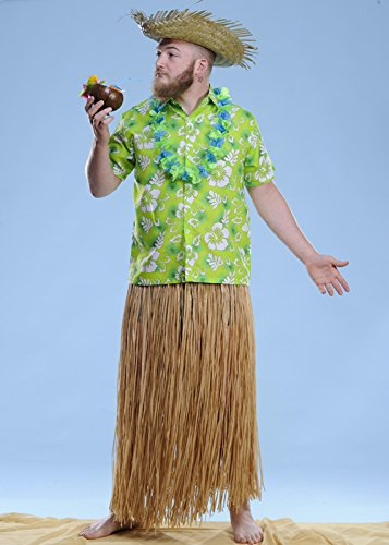 Mens Long Stroh Hula Grass Skirt