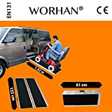 1.22m WORHAN® Mobility Scooter Wheelchair Ramp Increased Grip Feature 4ft Folding Access Disabled Multifold Platform R4J