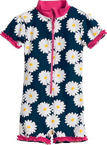 Playshoes Girl's UV Sun Protection All-in-One Swimsuit Marguerite