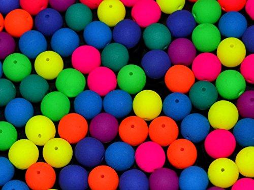 30pcs-tschechische-glasperlen-rund-gepresst-estrela-neon-uv-aktiv-8-mm-mix