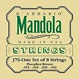 D\'Addario Cordes en bronze phosphoreux pour mandole D\'Addario J76, Medium, 15-52
