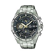 Casio Edifice Herren Massives Edelstahlgehäuse und Edelstahlarmband Uhrenarmband EFR-556D-1AVUEF