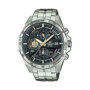 Casio EDIFICE Reloj en caja sólida, 10 BAR, Dorado/Negro, para Hombre, con Correa de Acero inoxidable, EFR-556D-1AVUEF
