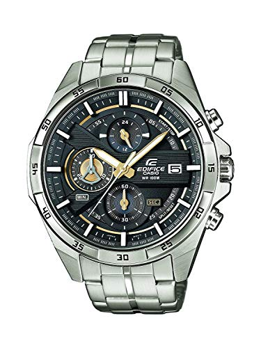 Casio orologio cronografo quarzo da uomo con cinturino in acciaio inox efr-556d-1avuef