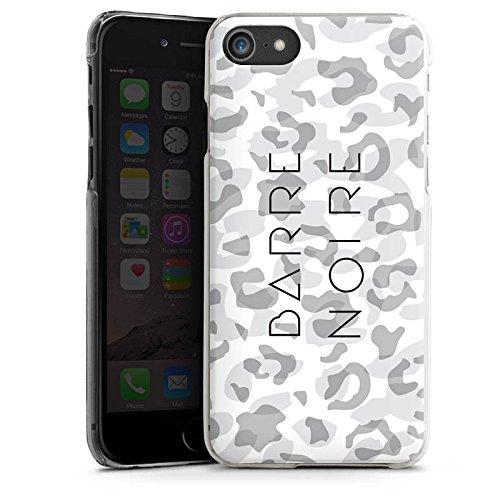 Apple iPhone X Silikon Hülle Case Schutzhülle Leopard Muster Weiß Hard Case transparent