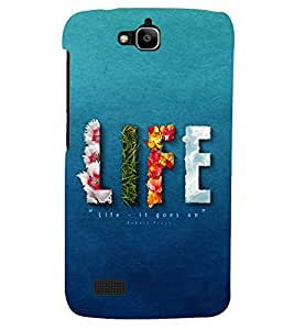 PRINTSHOPPII LIFE Back Case Cover for Huawei Honor Holly::Honor Holly
