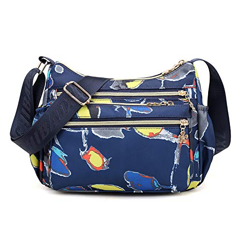 Borsa a tracolla da donna FREEMLLight moda borsa in tela di nylon impermeabile di grande capacità