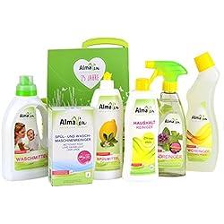 AlmaWin GREEN BRAND Siegel Jubiläumskorb VEGAN - Haushaltset Reinigungsmittel Haushaltreiniger Badreiniger WC Reiniger Spülmittel Waschmittel