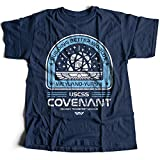9394n Covenant Herren T-Shirt USCSS Nostromo USCM Off World Hadleys LV-426 Space Alien USS Bug Sulaco Hope Marines Corp(X-Large,Navy)