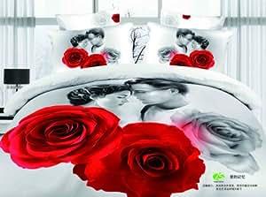 NEW ARRIVAL Titanic Jack et rose Lover coton 3D Parure de lit 4pièces roi reine de lit/couette/Édredon/couette Jeux–Il est pour une seule couleur–par PC/Lot