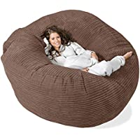 Lounge Pug®, 'Mega-Mammoth' Sofa Sitzsack XXL, Schlafsofa, Cord Mocca