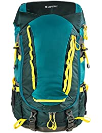 Hi-Tec – Todos los – Mochila de senderismo, 54 cm, 35 L, verde/Yellow