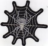 Aufnäher Bügelbild Applikation Iron on Patches Spinne im Netz Spider on Web