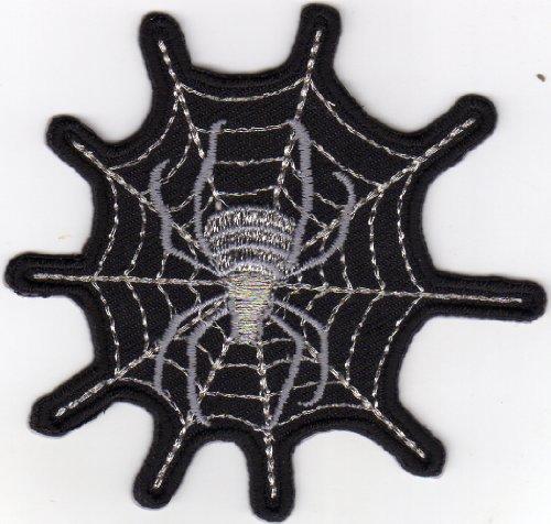 Aufnäher Bügelbild Applikation Iron on Patches Spinne im Netz Spider on Web (Spider Web Netz)