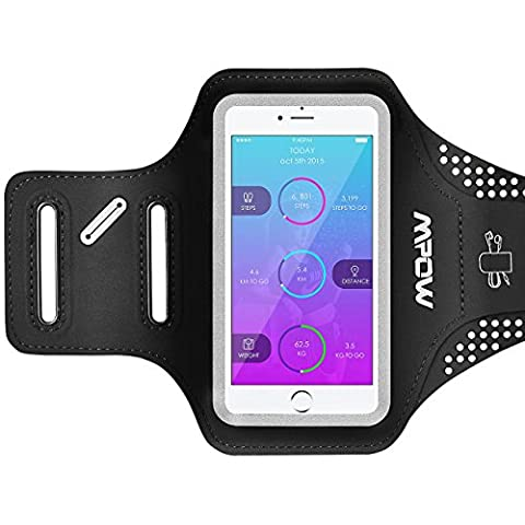Iphone 7/6S/6 Armband, Mpow Sport Armband With Earphone And Key Holder For Iphone 7/6S/6, Samsung S7/S6, Huawei P9 Up To 5.2 Inches, Adjustable Arm Width, Sweatproof Phone