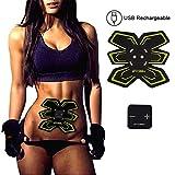 Cinturón de tonificación abdominal, SYOSIN Muscle Toner, EMS Abs Trainer Wireless Body Gym Workout Equipamiento de gimnasio para entrenamiento de Abdomen / Brazo / Pierna para hombres en casa