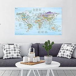 Kitesurf Map–Carte du monde Illustrées de Awesome Maps