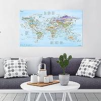 KITESURF MAP - Illustrierte WELTKARTE von Awesome Maps