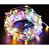 Citra battery operated Sliver String Light 3M 50 LED Decorative String Fairy Lights MULTI colour