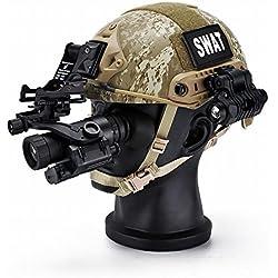 XP Casco Táctico, Acción de Respuesta Rápida de Mh Montando Entusiastas Militares Al Aire Libre Fuerzas Especiales Equipo de Campo CS Paracaidista Casco,Segundo,Un tamaño