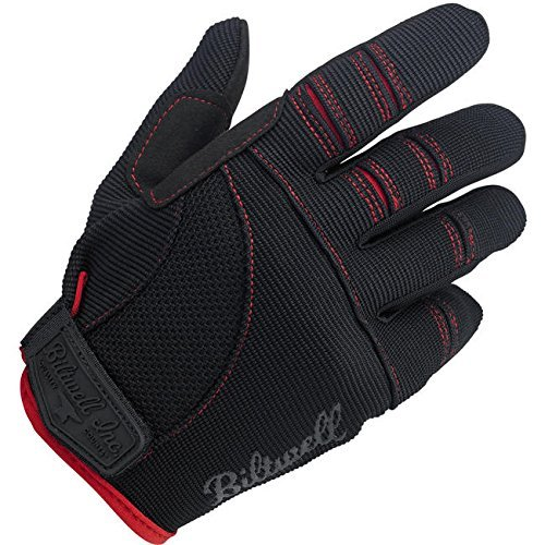 Biltwell Moto Gloves (Black/Red, Medium) by Biltwell