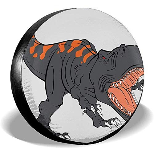 LAURE Tire Cover Accessori Classici Protezione dei copriruota di scorta universali violenti per Dinosauri Proteggi Pneumat