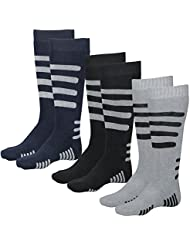 Lavazio® 3 | 6 | 9 | 12 Paar Herren Thermo Kniestrümpfe dick & herrlich warm schwarz/grau/blau
