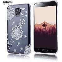AllDo Custodia in Silicone per Samsung Galaxy S5 Cover Gomma TPU Custodia Protettiva Cover Trasparente (Custodia Protettiva In Gomma)