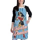 Elbenwald Wonder Woman Schürze DC Comics Kochschürze Grillschürze Baumwolle Blau