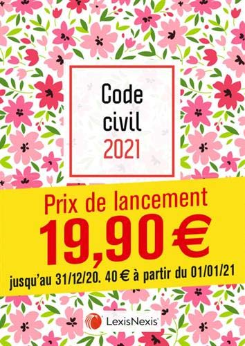 Code civil 2021 - Jaquette Petites fleurs par Laurent Leveneur