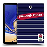 Head Case Designs Ufficiale England Rugby Union Navy Righe 2016/17 Patterns Cover Retro Rigida per Samsung Galaxy Tab S4 10.5 (2018)