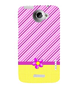 Yellow Cross Lines Girl 3D Hard Polycarbonate Designer Back Case Cover for HTC One X