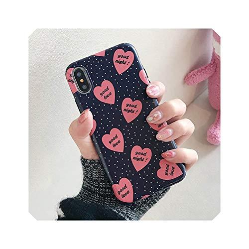 Retro Liebes-Herz-Telefon-Kasten für iPhone XS Max XR X 8 7 6S 6 Plus Back Cover Art und Weise Leopard-Druck-Wellen-Punkt-Hüllen Capa, style1, für iPhone XS -