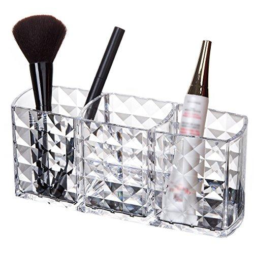 Organizzatore di trucco acrilico porta pennelli per trucco scatola portaoggetti cosmetica per matita per sopracciglia, eyeliner, pennello per trucco, ecc.