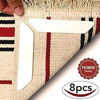 12Pcs Rug Gripper /& 11 Pcs No Slip Furniture Pad LARGE Size Anti Curling Carpet
